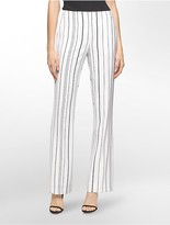 Calvin Klein Wide Leg Striped Pants