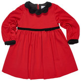 Florence Eiseman Ponte Knit Dress w/Velvet Detail, Red