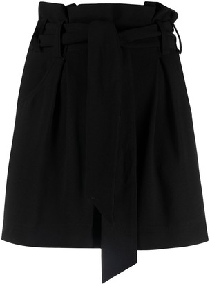 IRO Steybe belted shorts