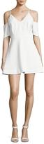Keepsake Women's Solid Cold-Shoulder Dress