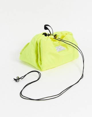 Flat Lay Company The Flat Lay Co. Drawstring Makeup Bag - Neon Yellow
