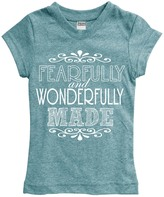 Urban Smalls Heather Aqua 'Fearfully And' Fitted Tee - Toddler & Girls