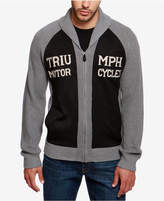 Lucky Brand Men's Triumph Embroidered Shawl-Collar Cardigan