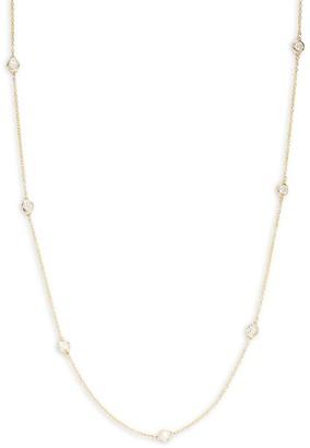 Effy 14K Yellow Gold Diamond Station Necklace
