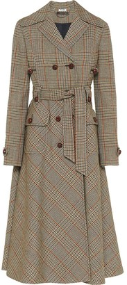 Miu Miu patterned Prince of Wales check coat