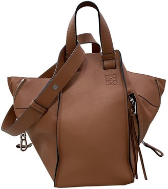 Loewe Hammock Brown Leather Handbags