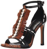 Lola Cruz Women's High Heel Fringe Sandal