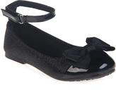 Jelly Beans Black Xirona Ankle-Strap Flat