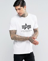 Alpha Industries T-shirt With Logo In Regular Fit White