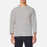 Armor Lux Men's Beg Meil 3/4 Sleeve Breton Stripe Top Nature/Navire