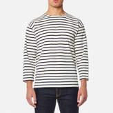 Armor Lux Men's Beg Meil 3/4 Sleeve Breton Stripe Top