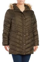 Andrew Marc Plus Renee Faux Fur-Trimmed Down Puffer Coat