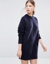 Wood Wood Rosa Sweater Dress in Navy
