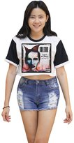 Me Women's Marilyn Manson Tee Crop T-shirt