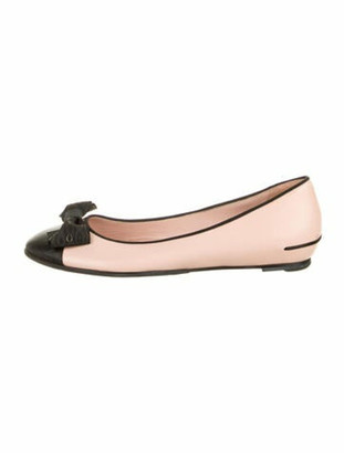 Chanel Cap-Toe Ballet Flats Leather Ballet Flats Pink