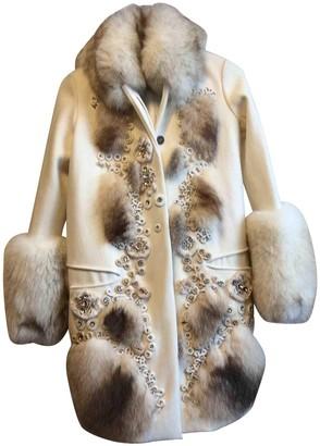 Chloé White Fur Coat for Women