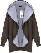 ACEVOG Women's Hoodies Sweatshirt Top Cardigan Jacket with Zipper Point