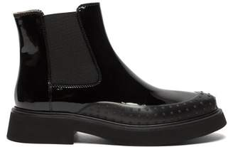 Tod's Rubber-toe Patent-leather Chelsea Boots - Womens - Black