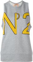 No.21 textured logo top - women - Cotton/Acrylic - 36