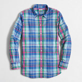 J.Crew Factory Petite summer plaid washed shirt