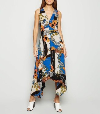 New Look AX Paris Scarf Print Midi Dress