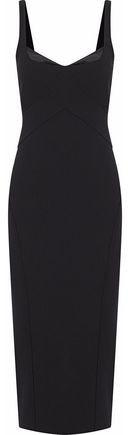 Cinq à Sept Mies Jolie Satin-Trimmed Cady Midi Dress