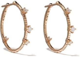 Mattia Cielo 18kt rose gold diamond Rugiada hoop earrings