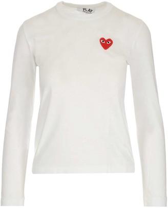 Comme des Garcons Heart Logo Long-Sleeve T-Shirt