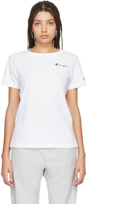 Champion Reverse Weave White Small Script T-Shirt