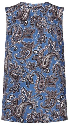 Max Mara Silk Paisley Sleeveless Top