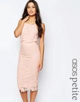 Asos Lace Floral Scallop Midi Dress