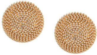 Marni Crystal-Embellished Spherical Clip-On Earrings
