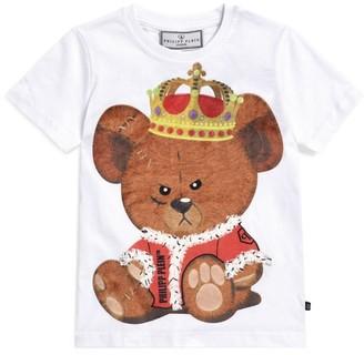 Philipp Plein Junior Crown Teddy Bear T-Shirt