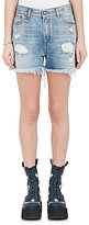 R 13 Women's Shredded Slouch Denim Shorts