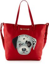 Love Moschino Faux-Leather Applique Tote Bag, Red