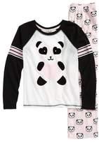 PJ Salvage Girl's Panda Monium Two-Piece Pajamas