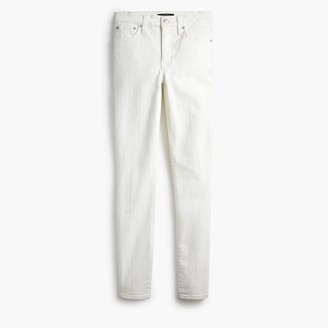 "J.Crew 9"" High-Rise Skinny Jean In White Denim"