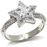 "Kristin Chenoweth ""Lookahead"" 2.31ctw CZ Sterling Silver Faceted Star Pave Ring"