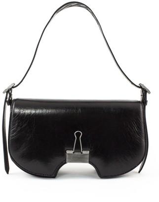 Off-White Black Leather Swiss Flap Bag