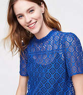 LOFT Diamond Lace Top