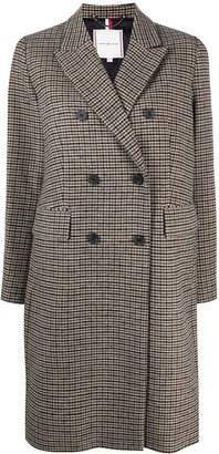 Tommy Hilfiger Double-Breasted Houndstooth Coat