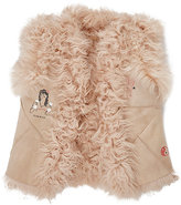 Scotch R'Belle Fur-Lined Suede Vest-PINK