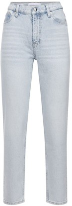 Calvin Klein Jeans Mom Fit Cotton Denim Straight Jeans