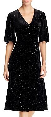Leota Zoe Studded Velvet Dress