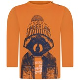 Timberland TimberlandBaby Boys Orange Raccoon Print Top