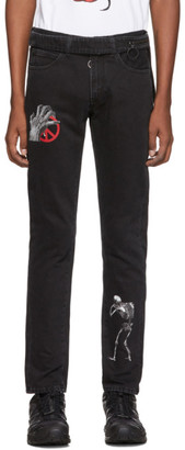 Off-White Black Undercover Edition Cutted Slim 5-Pocket Jeans