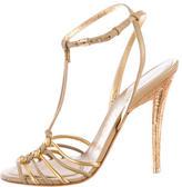 Salvatore Ferragamo Leather T-Strap Sandals