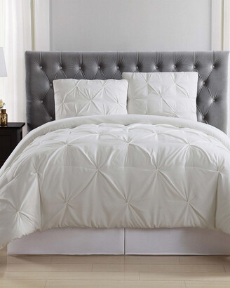 Truly Soft Pleated Ivory Comforter Set
