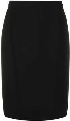 Gianfranco Ferré Pre-Owned 1990s Straight-Fit Knee Length Skirt