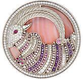 Judith Ripka Sterling Silver Gilda Gemstone Goat Pin / Enhancer